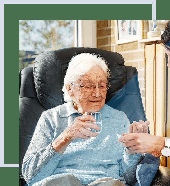 professionnelle de santé pour des soins de nursing à domicile